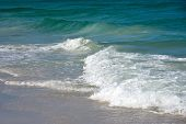 picture of gulf mexico  - Ocean Waves of the Gulf of Mexico on the Sandy Beaches of Anna Maria Island - JPG