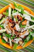 picture of zucchini  - Chicken salad with zucchini green salad and walnuts - JPG