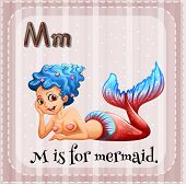 stock photo of letter m  - Flashcard letter M is for mermaid - JPG