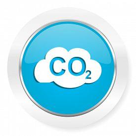 image of carbon-dioxide  - carbon dioxide icon co2 sign  - JPG