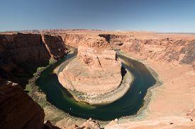 stock photo of horseshoe  - Horseshoe Bend is a horseshoe - JPG