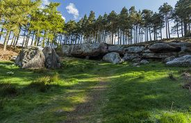 picture of raider  - The cave where monks are reputed to have hidden the body of St Cuthbert away from Viking raiders - JPG