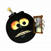 pic of time-bomb  - emoticon time bomb