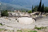 Ancient Theatre In Delphi Greece