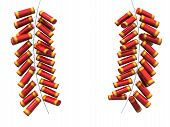 foto of chinese crackers  - Fire cracker fo chinese new year isolated 3d illustration - JPG