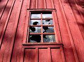 Broken Window On Barn poster
