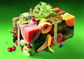 image of parallelepiped  - Fruits in the form of gift boxes - JPG