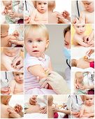 Doctor giving a child an intramuscular injection