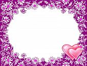 Stock Image Of Valentine'S Day Frame poster