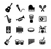 ������, ������: Collection of musical instruments icons Can be used on print materials or on websites with subjects