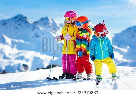 Child skiing in