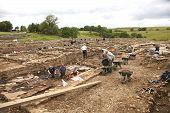 Archaeologists At Work At Roman Vindolanda