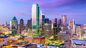 Dallas, Texas, USA city skyline. poster