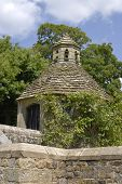 Dovecote In English Country House Garden