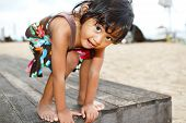 Asian Ethnic Child Fun Portrait