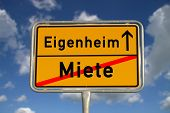 Постер, плакат: Немецкий дороги знак аренды и владении дома