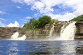 stock photo of canaima  - Cascades of waterfalls at Canaima National Park - JPG