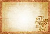 picture of native american ethnicity  - Background with American Indian traditional patterns - JPG