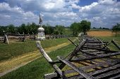 image of yanks  - Rail fences along the Sunken Road at the Antietam National Battlefield American Civil WarMaryland - JPG