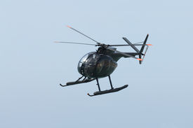 pic of hughes  - Hughes 369HM helicopter of the Spanish Navy in flight - JPG