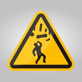 Beware Falling Objects Symbol Isolate On White Background,vector Illustration Eps.10 poster
