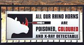 The Killing Of Rhinos For Their Horns Is A Terrible Tragedy In Africa.  Drastic Steps Are Being Take poster