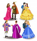 stock photo of prince charming  - fairytale couples - JPG
