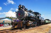 Old Steam Locomotives Railway Station Steam Engine poster