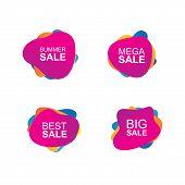Sale Banner Vector. Summer Sale Banner. Best Sale Banner. Mega Banners Set Vector. Shopping Sale Vec poster