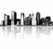 picture of new york skyline  - highly detailed image of cityscape  - JPG
