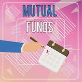 Conceptual Hand Writing Showing Mutual Funds. Business Photo Showcasing An Investment Program Funded poster