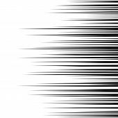 Comic Horizontal Speed Lines Background. Manga Speed Frame. Cartoon Motion Background. Superhero Act poster