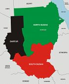 pic of north sudan  - very big size political map of sudan south sudan and darfur - JPG