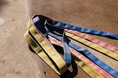 pic of firehose  - Colorful Hose on the Ground - JPG