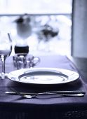 image of banquette  - A fancy wedding table set for a banquette - JPG