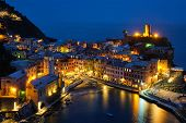 View of Vernazza village popular tourist destination in Cinque Terre National Park a UNESCO World He poster