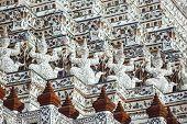 Pagoda At Wat Arun Ratchawararam Ratchaworamahawihan Or Wat Jaeng With Giant Statue, Bangkok, Thaila poster