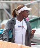 KHARKIV, UKRAINE - APRIL 19: Sloane Stephens before training during Fed Cup Tie between USA and Ukra