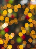 Christmas Tree Lights Background. Xmas Concept. Christmas Traditions Context. Defocused Christmas St poster