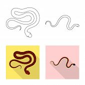 Vector Design Of Mammal And Danger Symbol. Set Of Mammal And Medicine Stock Symbol For Web. poster