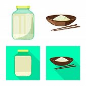 Isolated Object Of Crop And Ecological Icon. Collection Of Crop And Cooking Stock Symbol For Web. poster