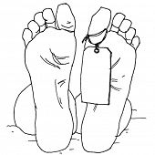 image of dead-line  - Dead Man Feet - JPG