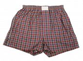 stock photo of boxer briefs  - Plaid boxer shorts underwear - JPG