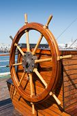 stock photo of ship steering wheel  - Helm  - JPG