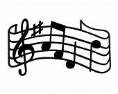 pic of clip-art staff  - Music  - JPG