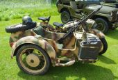 image of sidecar  - German second world war sidecar outfit complete with machine gun - JPG