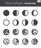 stock photo of wane  - Black icons about the weather - JPG