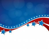picture of election campaign  - An American themed background - JPG