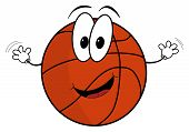 Happy Cartoon Basketball Character