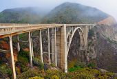 pic of ravines  - Bixby Bridge - JPG
